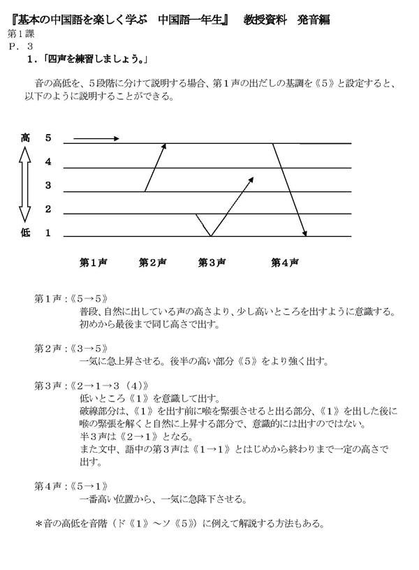 発音編指導例 第1課(PDF8枚)