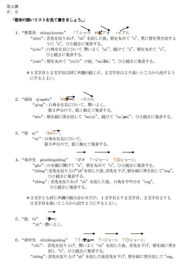 発音編指導例 第2課
