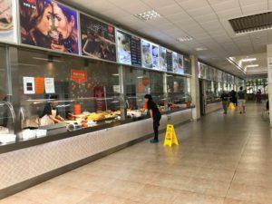 徐匯キャンパスの食堂