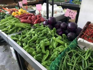 『地元のスーパーの野菜売り場』